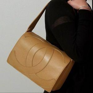 Authentic Beige Chanel Handbag